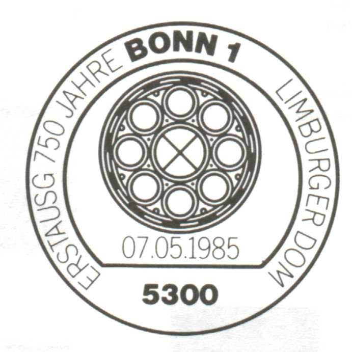 Ersttagsstempel Limburger Dom in Bonn